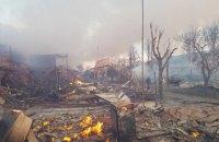 У Затоці вночі згоріли близько 20 будівель двох баз відпочинку, - ДСНС