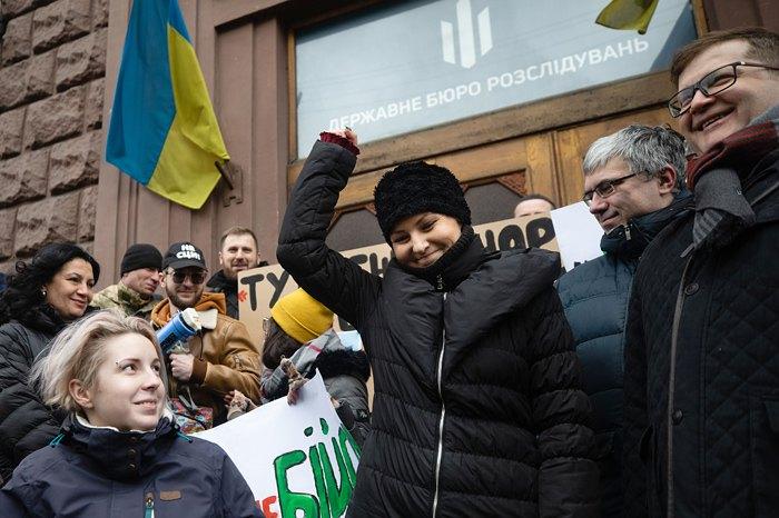 Софія Федина під час візиту до ДБР