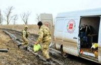 """Бойовики знищили автомобіль """"Християнської служби порятунку"""" біля Опитного"""