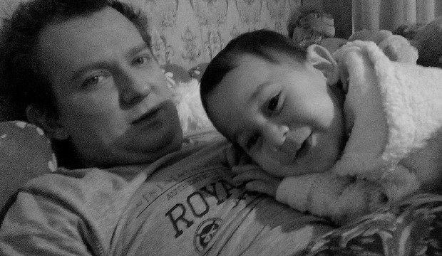 Тарас со своим сыном Давидом