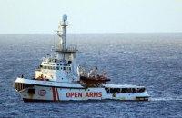 Італія наказала судну Open Arms з мігрантами плисти в Іспанію
