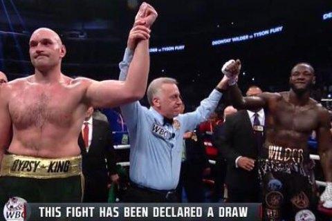 Неожиданным результатом закончился супербой тяжеловесов Фьюри – Уайлдер