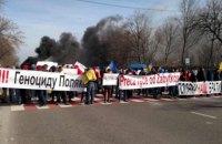 У Львівській області за підозрою в організації перекриття траси біля кордону з Польщею затримали двох киян