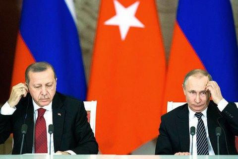 Ердоган поспілкувався з Путіним після розмови з Порошенком