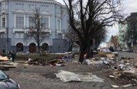 На Андреевском спуске в Киеве снесли сувенирные лотки