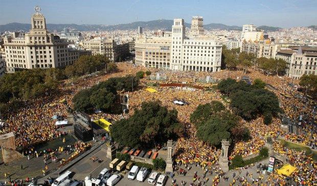 Акция в поддержку выборов в Каталонии