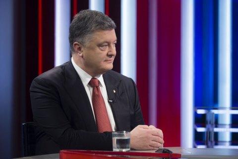 Порошенко поздравил Макрона с победой на выборах президента Франции