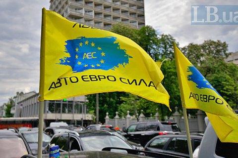 ВКиеве активисты заблокировали движение поГрушевского