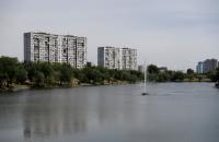 На озере Тельбин в Киеве запустили систему аэрации