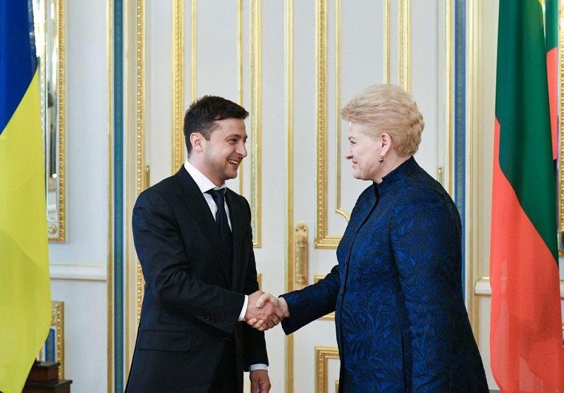 Президент України Володимир Зеленський і президент Литви Даля Грібаускайте