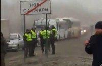 В Новых Санжарах перекрыли дорогу из-за эвакуированных из Уханя, есть задержанные