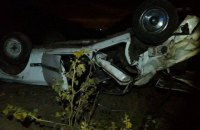 На Одещині на автодорозі перевернулось переповнене авто з пасажирами