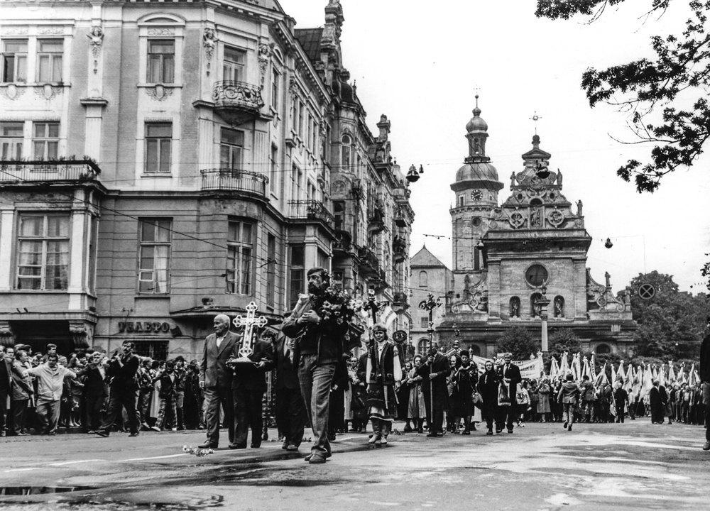 Львів, 17 вересня 1989 р. багатотисячний маніфест греко-католиків з вимогою легалізації УГКЦ