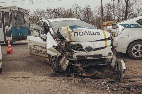 Співробітницю патрульної поліції госпіталізовано через ДТП у Києві