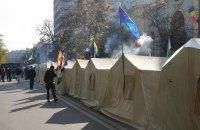 Аваков не намерен возвращать охрану в палаточный городок под Раду