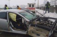 Двоє нацгвардійців отримали поранення в ДТП на Броварському проспекті в Києві