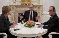 В Москве завершились переговоры Путина, Олланда и Меркель
