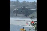 Под Харьковом военный вертолет опрокинул на реке лодку с людьми