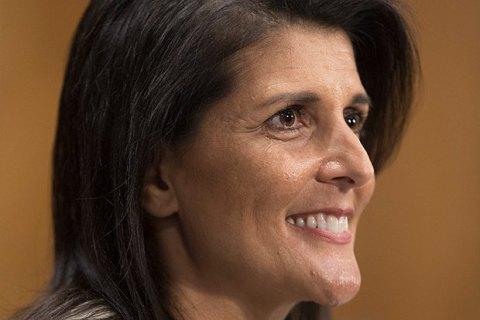 Сенат США затвердив кандидатуру Хейлі на посаду постпреда США при ООН
