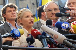 Выступление Тимошенко глушат шансоном