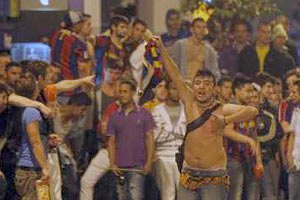 """В ходе празднования победы """"Барселоны"""" ранены 89 человек"""