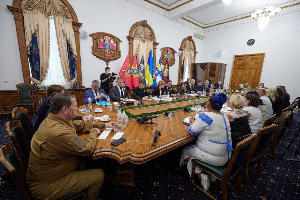 Зустріч президента з родинами загиблих захисників України