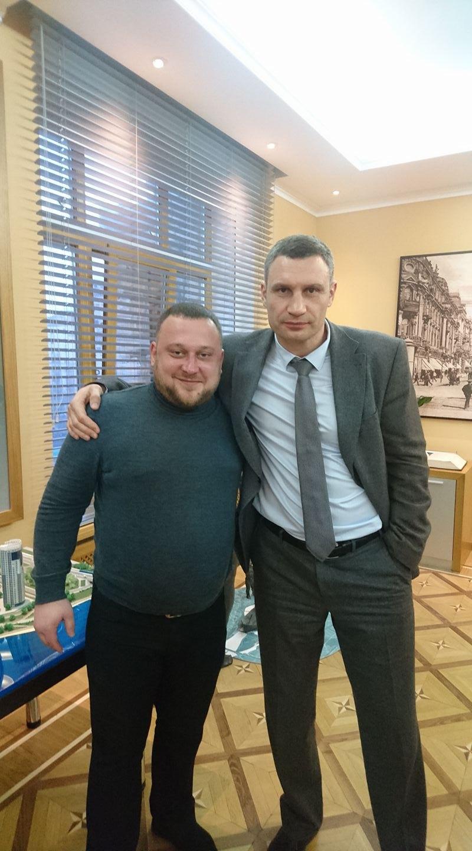 Ігор Марі з мером Києва Віталієм Кличком
