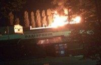 Уночі на столичному радіоринку сталася пожежа