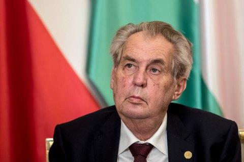 Президента Чехії терміново госпіталізували, він у реанімації (оновлено)