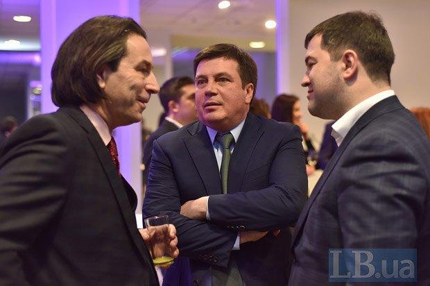 Слева направо: Олег Медведев, Геннадий Зубко и Роман Насиров