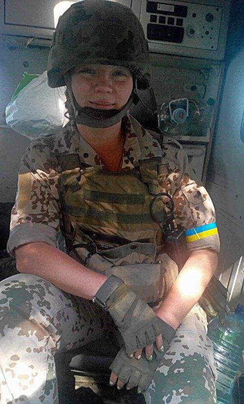 Євгенія, позивний *Єва*, y складі 25 батальйону тероборони
