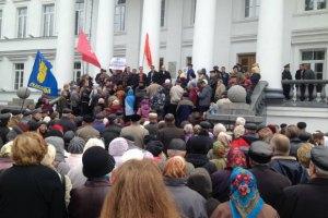 У Полтаві міліція і протестувальники уклали спілку