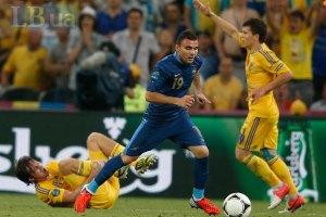 Гравці збірної України втекли від журналістів
