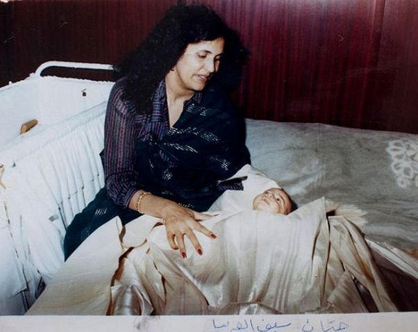 Сын полковника Сейф Аль-Ислам с женой Каддафи Сафией Фаркаш.