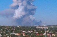 В результате взрыва на складе завода в Донецке химических веществ в атмосфере нет, - ОГА