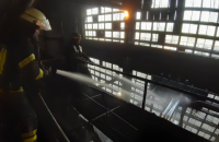 На Славянской ТЭС произошел пожар