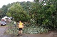Затоплені вулиці, повалені дерева, вимкнена електрика: Чернівцями прокотився потужний ураган