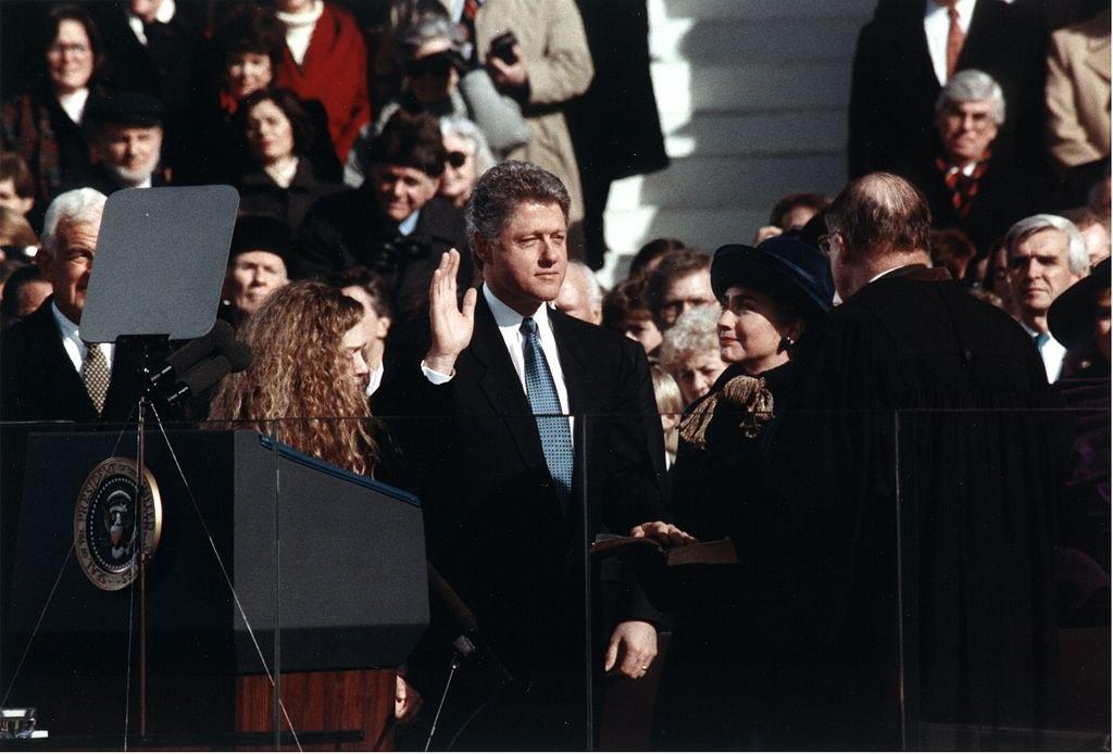 Білл Клінтон складає присягу президента США, 20 січня, 1993