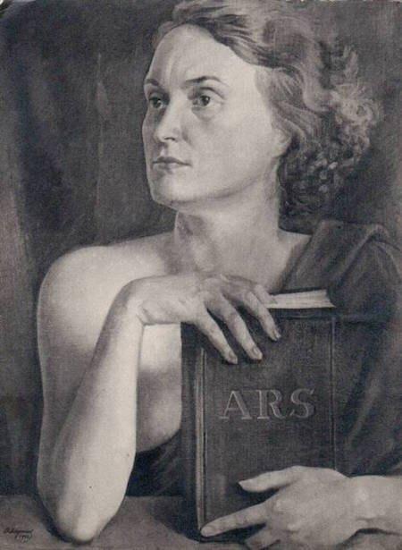 Василь Дядинюк «Муза мистецтва (портрет дружини). 1930-ті роки.