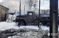 Під час пожежі у військовій частині в Рубіжному постраждали троє військових