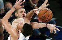 Украинец Лень cделал дабл-дабл в матче регулярного чемпионата НБА