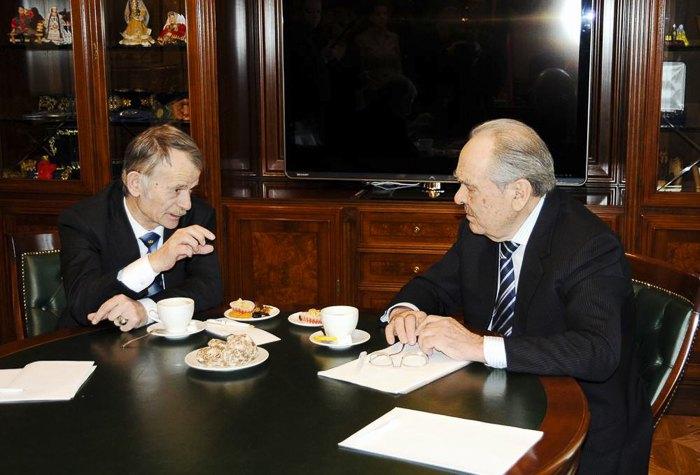 Встреча Мустафы Джемилева с Минтимером Шаймиевым в Москве