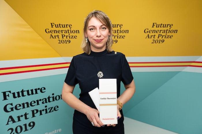 Победительница конкурса Future Generation Art Prize 2019 Эмилия Шкарнулите