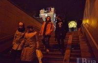 Світлова інсталяція замінила Леніна на постаменті в центрі Києва