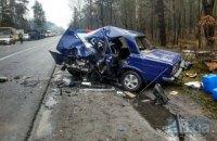 В Киеве на Гостомельском шоссе произошло смертельное ДТП при участии 5 автомобилей