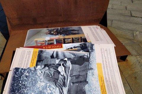 В полиции Киева заявили, что выставку музея Революции Достоинства на Майдане не повреждали - ее сдуло ветром