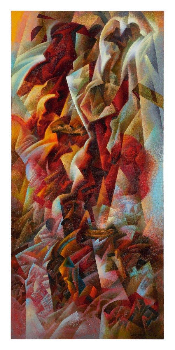 """Іван Турецький, """"Фрагменти II (Італійський щоденникк)"""", холст, олія, 2019"""