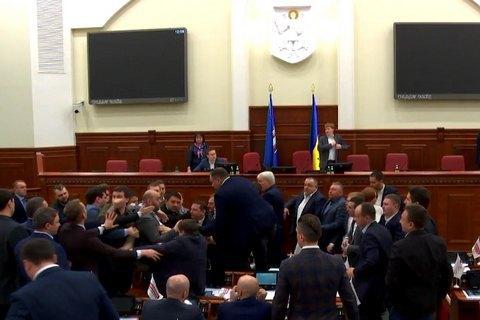 У Київраді сталася бійка