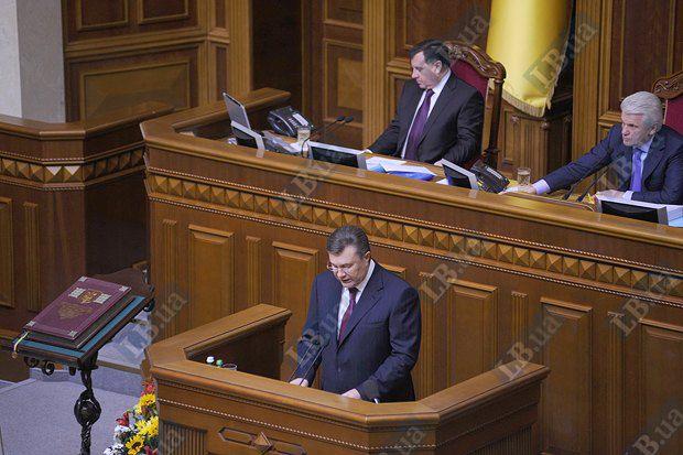 Президент Виктор Янукович в 2012 году был в Раде всего два раза