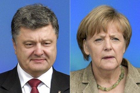 Порошенко и Меркель обсудили ситуацию на Донбассе